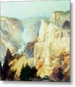 Grand Canyon Of The Yellowstone Park Metal Print by Thomas Moran