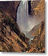 Grand Canyon Of The Yellowstone Metal Print by Robert Pilkington