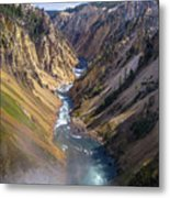 Grand Canyon Of The Yellowstone Metal Print