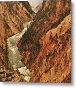 Grand Canyon Of The Yellowstone Vertical Panorama Metal Print