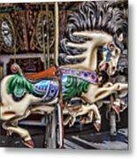 Grand Carousel Hourse Metal Print
