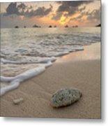 Grand Cayman Beach Coral At Sunset Metal Print