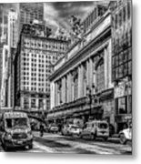 Grand Central At 42nd St - Mono Metal Print