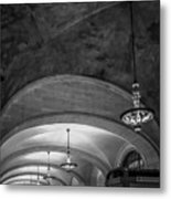 Grand Central Terminal - Arched Corridor Metal Print