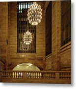 Grand Central Terminal Light Reflections Metal Print