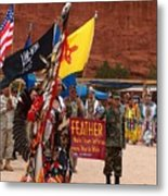 Grand Entry At Star Feather Pow-wow Metal Print