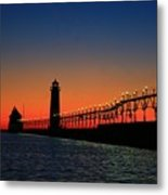 Grand Haven Light House Metal Print by Robert Pearson