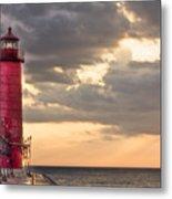 Grand Haven Lighthouse Hdr Metal Print