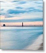 Grand Haven Pier - Smooth Waters Metal Print