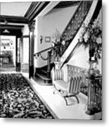 Grand Island Mansion Mosher Ranch 7 B And W Metal Print