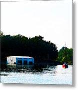 Grand Lake Boat Dock Metal Print