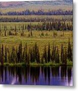 Grand Mountain Reflections Metal Print