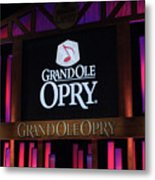 Grand Ole Opry House In Nashville, Tennessee. Metal Print
