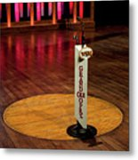 Grand Ole Opry House Stage Flooring - Nashville, Tennessee Metal Print