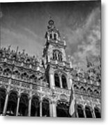 Grand Place Architecture Brussels  Metal Print