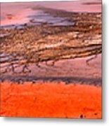 Grand Prismatic Algae Mat Panorama Metal Print
