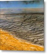 Grand Prismatic Runoff Metal Print