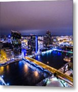 Grand Rapids At Night Metal Print