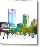 Grand Rapids Cityscape 01 Metal Print