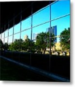 Grand Rapids Mi On Glass-12 Metal Print