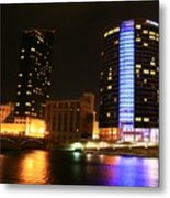 Grand Rapids Mi Under The Lights-4 Metal Print