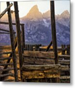 Grand Teton Framed Metal Print