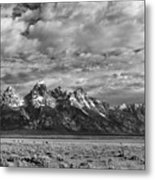 Grand Teton Majesty Metal Print by Sandra Bronstein