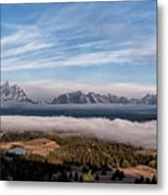 Grand Teton Mountain Range Metal Print