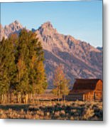 Grand Teton Mountain View Metal Print