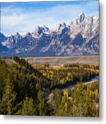 Grand Teton Mountains Metal Print