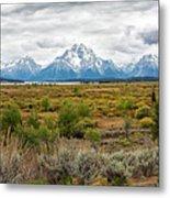 Grand Teton Mountains Panorama Metal Print