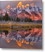 Grand Teton Snake River Sunrise Reflections Metal Print