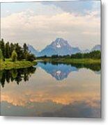 Grand Teton's Reflection Metal Print