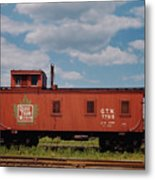 Grand Trunk Railroad Wood Caboose Metal Print