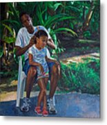 Grandfather And Child Metal Print