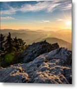 Grandfather Mountain Sunset Blue Ridge Parkway Western Nc Metal Print