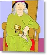 Grandma And Puppy Metal Print