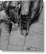 Grandma's Hands Metal Print by Curtis James