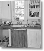 Grandma's Kitchen B W Metal Print