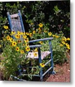 Grandma's Rocking Chair Metal Print