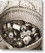 Grandma's Sewing Basket Metal Print