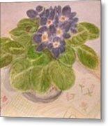 Grandma's Violets Metal Print