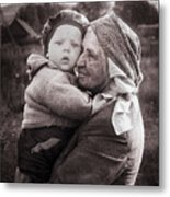 Grandmother And Child Metal Print