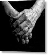 Grandmother's Hands Metal Print