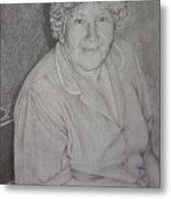 Grandmother's Portrait Metal Print