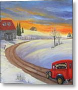 Grandpas Delivery Truck Metal Print