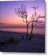 Grandview Beach Sunrise Metal Print