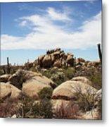Granite Boulders And Saguaros  Metal Print