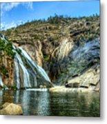 Granite Mountain Waterfall Panorama Metal Print