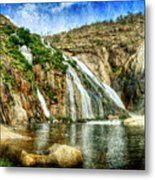 Granite Mountain Waterfall - Vintage Version Metal Print